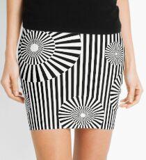 MOVING CIRCLES (BLACK) Minifalda