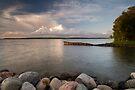 Leech Lake, Sunset. by Michael Treloar