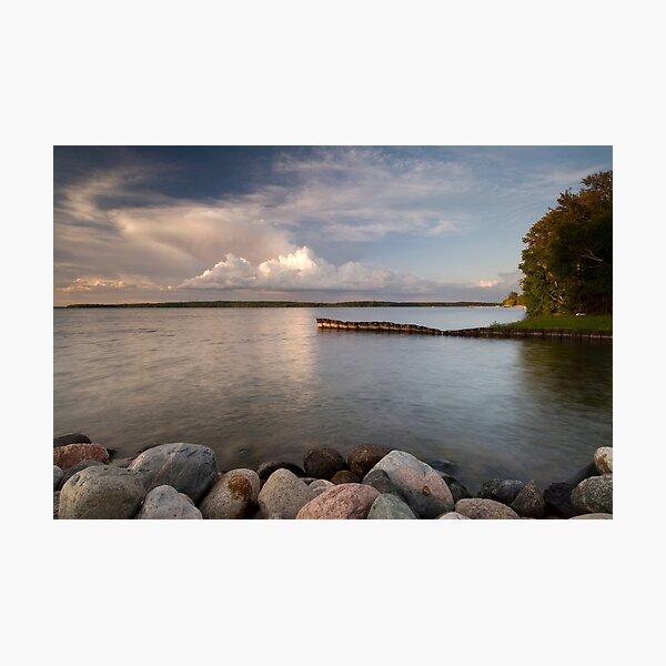 Leech Lake, Sunset. Photographic Print