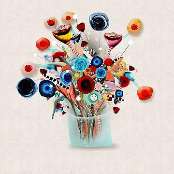 Floral Vase Still Life Art by rupydetequila