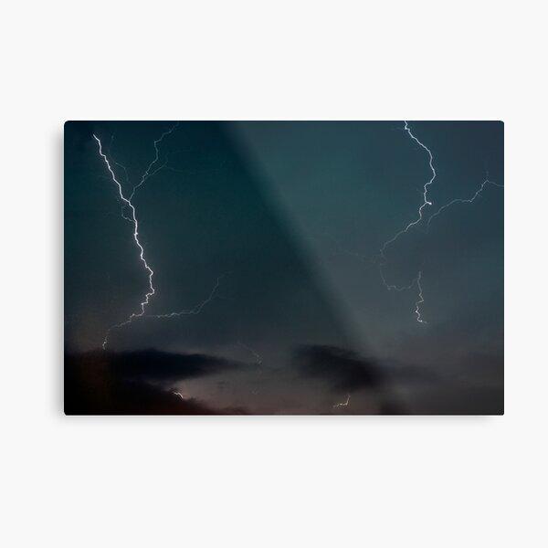 Double Lightning. Metal Print