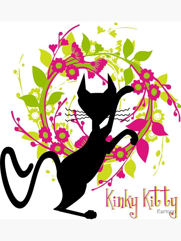 KINKY KITTY - Kitty with Garland by Kartoon
