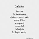 Ode To Line by James Watson