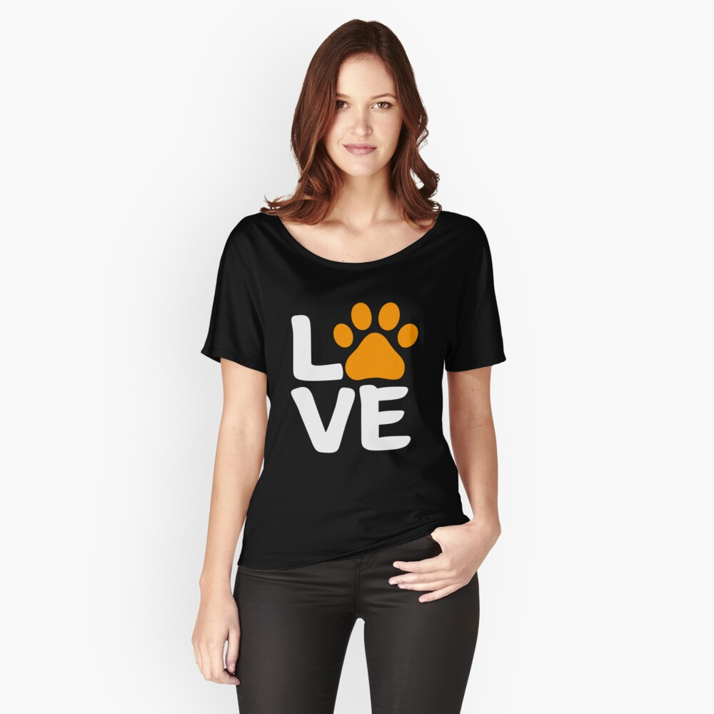 Love Paw Halloween Design for Dog Lovers Relaxed Fit T-Shirt
