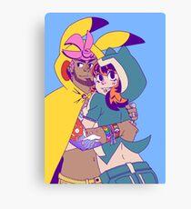 Pokecosplay - Pikachu x Snorlax Canvas Print