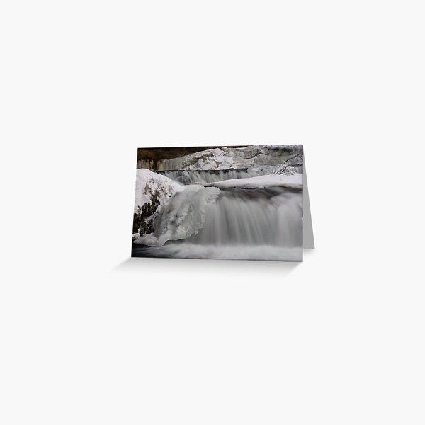 Ice Layers. Greeting Card