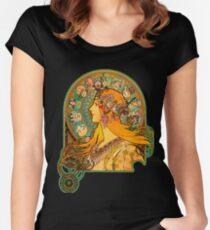HD Zodiac, (1896) - Alphonse Mucha Women's Fitted Scoop T-Shirt