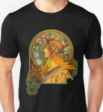 HD Zodiac, (1896) - Alphonse Mucha Slim Fit T-Shirt