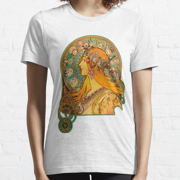 HD Zodiac, (1896) - Alphonse Mucha Essential T-Shirt