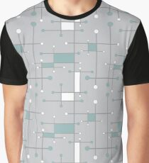 Intersecting Lines in Sea Foam and Light Gray Graphic T-Shirt