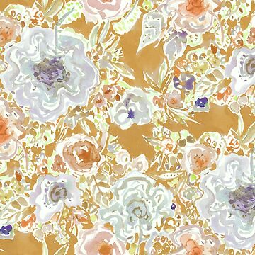 GROOVY PARADISE Golden Hibiscus Floral by Barbarian