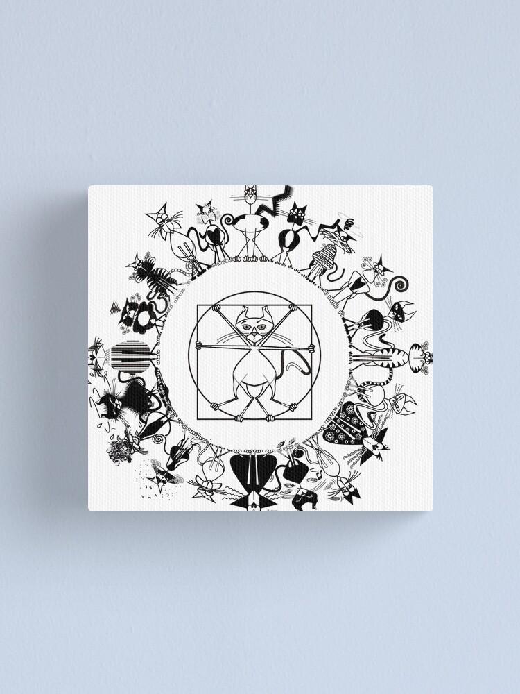 Alternate view of KINKY KITTY - Kinky Mandala Canvas Print