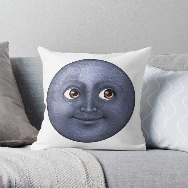 moon emoji  Throw Pillow