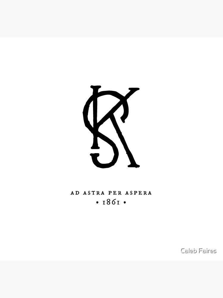 Kansas State Monogram Printers Mark Art Board Print By Calebfaires Redbubble