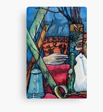 Blue and Orange Pots Canvas Print