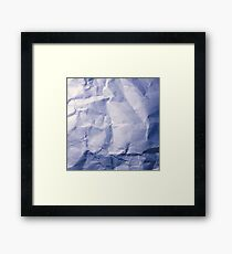 Blue Paper Framed Print