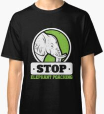 Save The Elephants Stop Elephant Poaching Classic T-Shirt