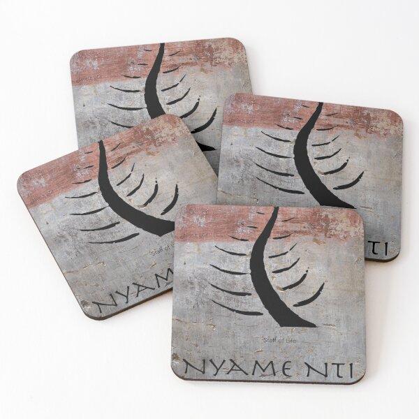 Nyame Nti Adinkra Symbol Coasters (Set of 4)