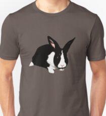 BUNNY BLACK WHITE RABBIT Unisex T-Shirt