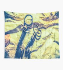 1369 antique crumpled crumpled paper Wall Tapestry