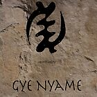 Gye Nyame Adinkra Symbol by GrimalkinStudio