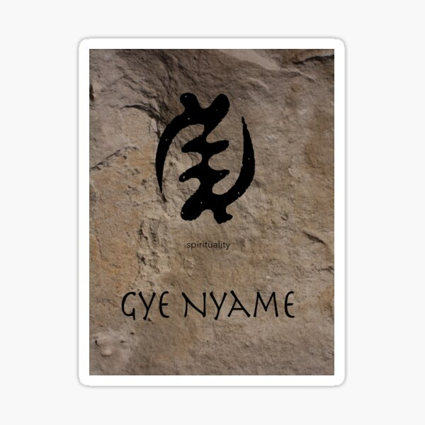 Gye Nyame Adinkra Symbol Sticker