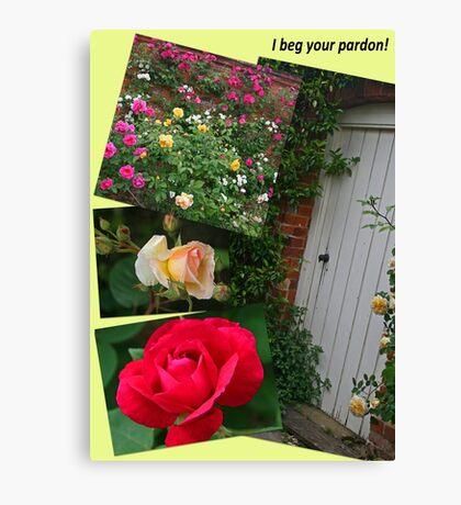 Rose Garden Collage Canvas Print