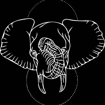 Elephant in White by LoraMaze