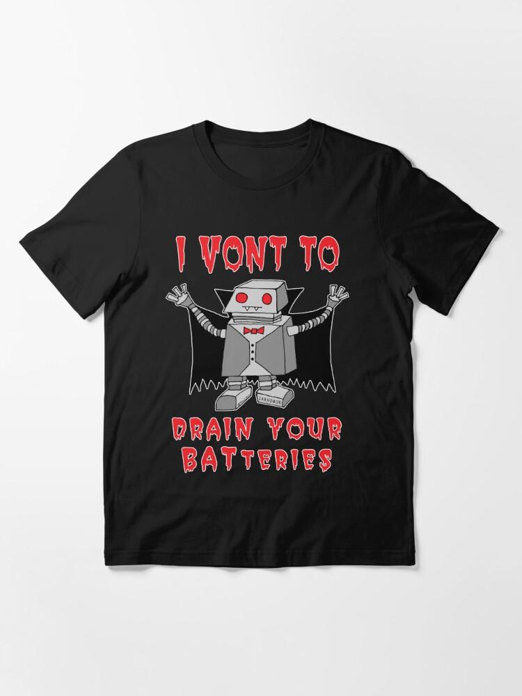 Alternate view of Robot Vampire Essential T-Shirt
