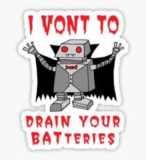 Robot Vampire Sticker
