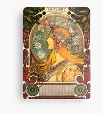 HD. Zodiac (Second version), by Alphonse Mucha (1896) HIGH DEFINITION  Metal Print