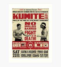 Kumite-Kampf-Plakat Kunstdruck