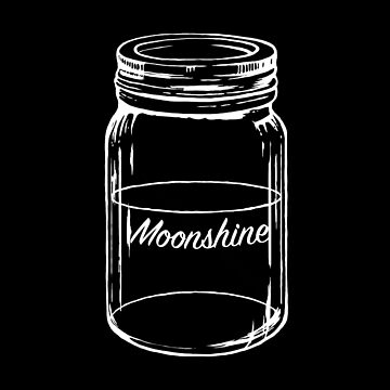 Moonshine T Shirt and Stickers by Fangpunk