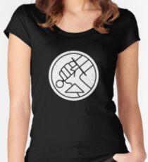 B.P.R.D. Logo Women's Fitted Scoop T-Shirt