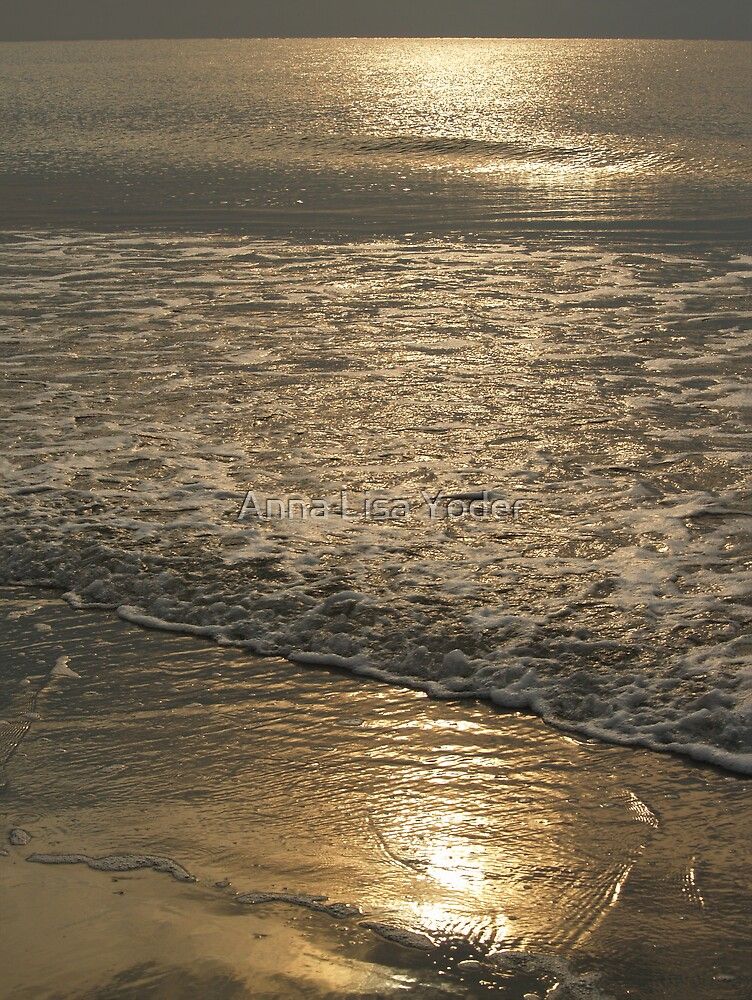 Golden Sea in Hunting Island Sunrise by Anna Lisa Yoder