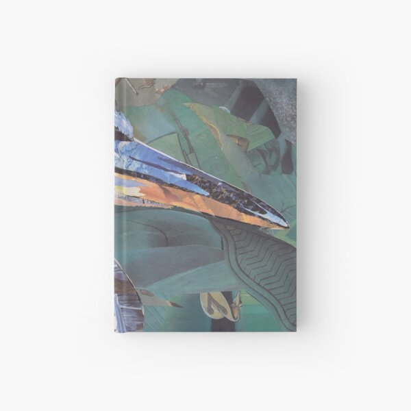 Blue Heron Art Collage by C.E. White Hardcover Journal
