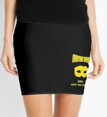 Everyday Superhero - Black And Yellow Mini Skirt