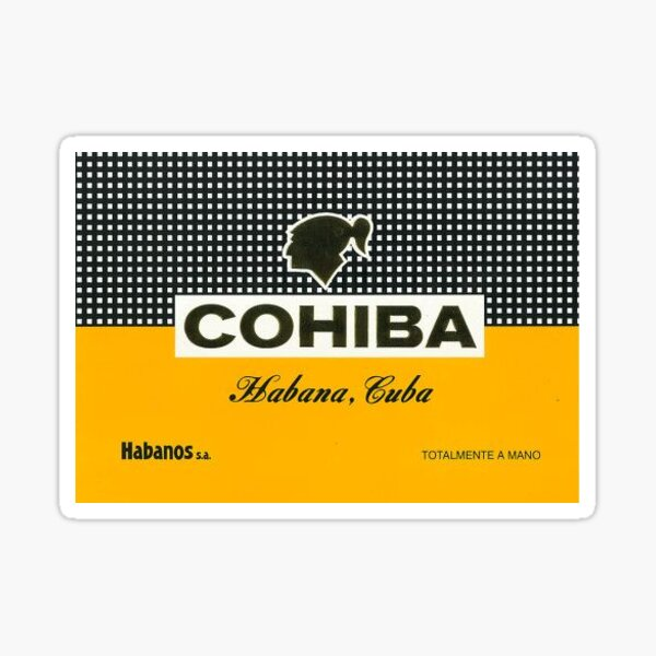 Cohiba Cuban Cigars Sticker