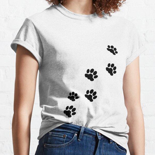 Cat tracks, animal tracks, paw, cat paw, animal step, cute paw, cat, cats, cat step Classic T-Shirt