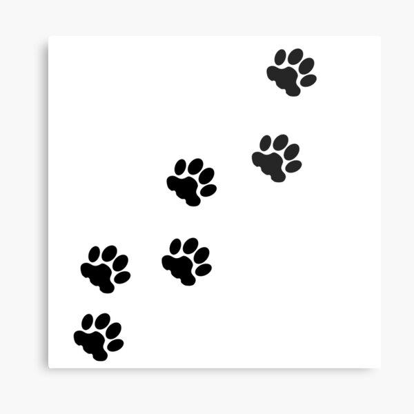 Cat tracks, animal tracks, paw, cat paw, animal step, cute paw, cat, cats, cat step Metal Print