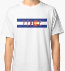 Colorado Flag Peace Shirt Classic T-Shirt