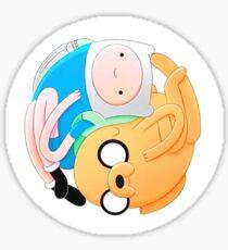 Jake & Fin Yin & Yang Sticker
