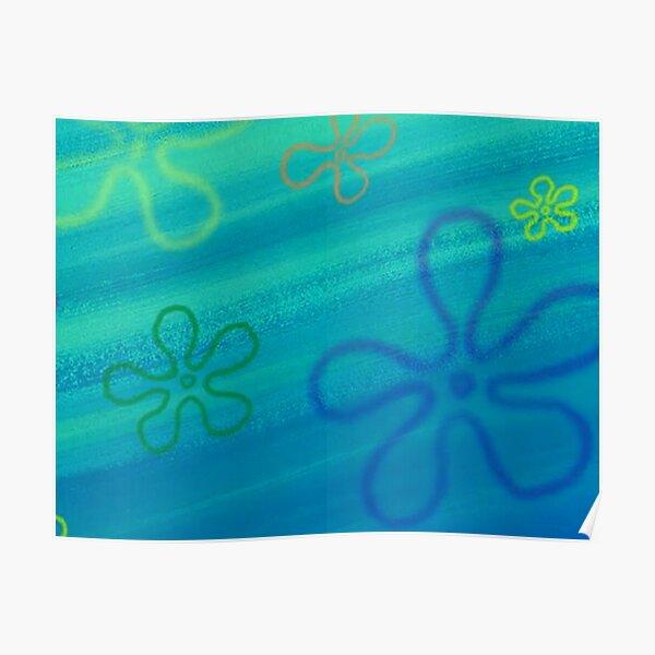 Spongebob flower sky Poster