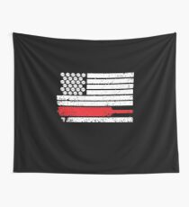 USA American Flag Cricket, Cricket Gift Wall Tapestry