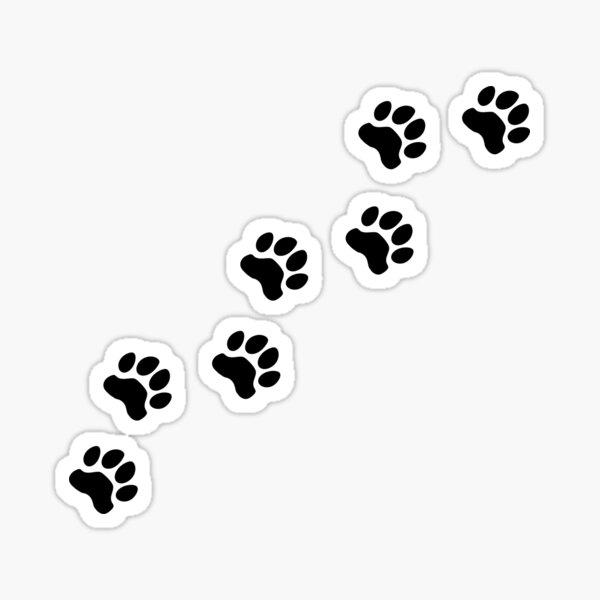 Dog tracks, dog footprint, dog paw, dog, doggy, paw print, animal step, dog step, animal tracks, cute paw Sticker