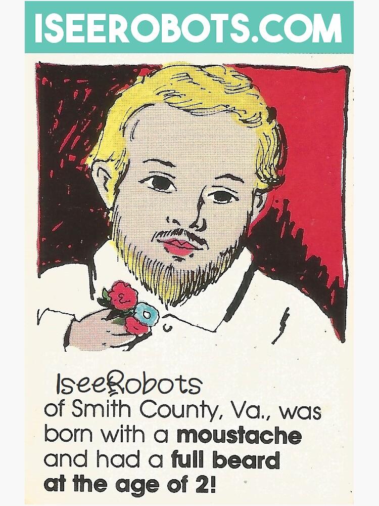 IseeRobots Ripley Sticker. He Grew A Whole Beard By The Age Of 2.  by IseeRobots