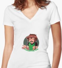 Guess I'll Die  Women's Fitted V-Neck T-Shirt
