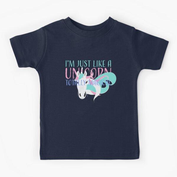 Like a Unicorn Totally (horizontal) Kids T-Shirt