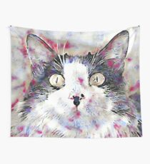 Watercolor Kitty Wall Tapestry