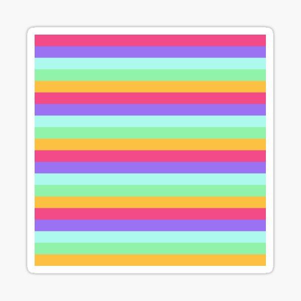 Unicorn Stripes Sticker